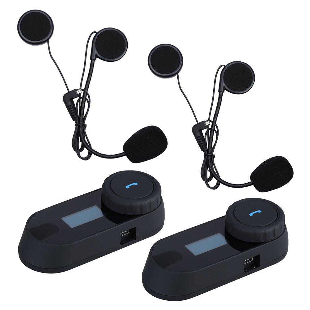 Uphig TCOM SC Intercomunicador de Casco de Motocicleta Bluetooth Pantalla LCD Headset?Radio