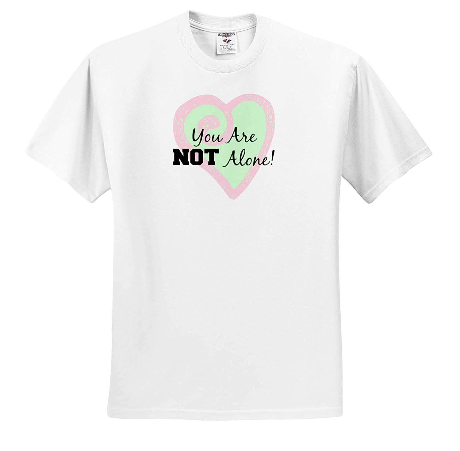 3dRose Carrie Merchant Quote Image Adult T-Shirt XL ts/_317176 Image of You are Not Alone