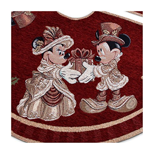 Disney Park Mickey Minnie Mouse Victorian Tapestry Christmas Holiday Tree Skirt by Disney Parks (Image #3)