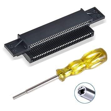 EEEKit - Conector de Repuesto de 72 Pines y Destornillador de 3,8 mm para Nintendo NES 8 bit System