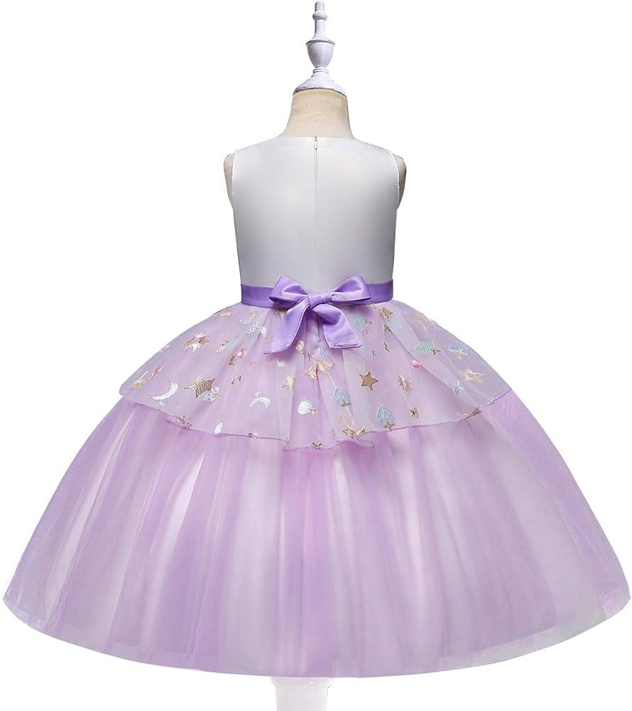 Disfraz de Unicornio para niñas con Diadema de Princesa para ...