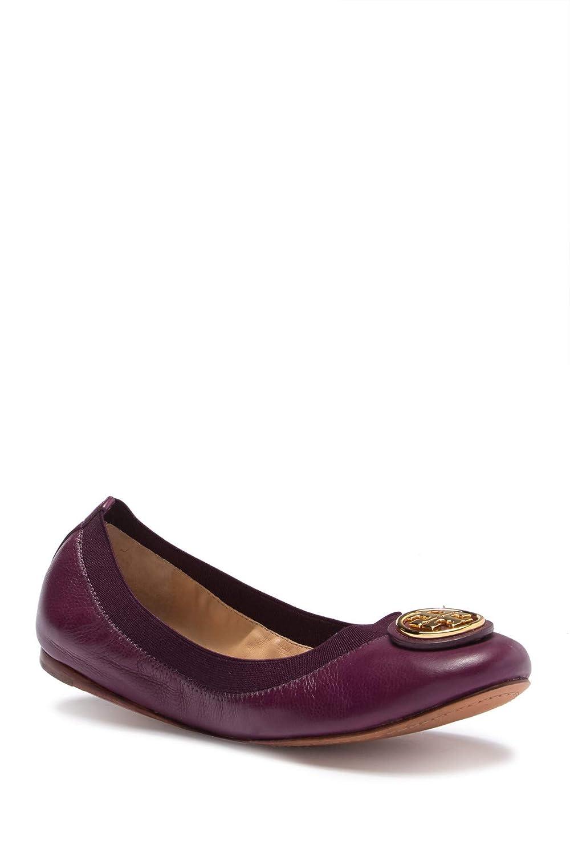 34c9769a7da06 Tory Burch Caroline Patent Leather Logo Ballet Flat Shoes