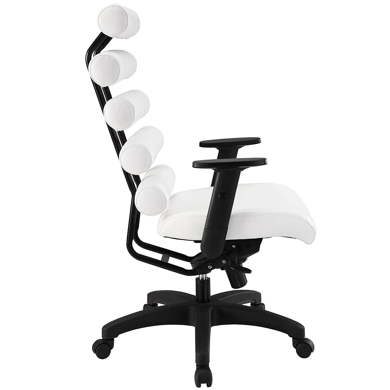 computer extra cheap with and arms padded desk headrest task back office chair chairs high leather mesh top modway