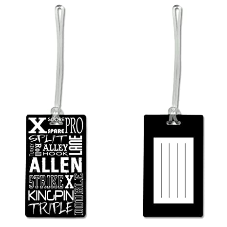 Amazon com   Personalized Bowling Terms Rectangle Bag Tag