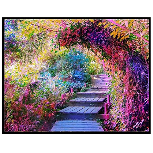 Serwell DIY Resin Diamond Painting Landscape Cross Stitch Embroidery Home Décor Cross-Stitch ()