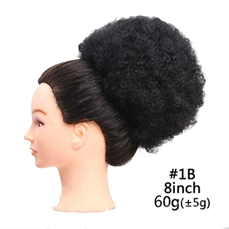 Boucles Cheveux Synthetiques Chignon Afro Kinky
