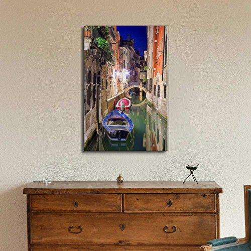 Beautiful Scenery Landscape Venice at Night Wall Decor