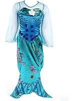 """Costume bambina """"Sirena/Spirito delle Acque"""" - Blu – Tg. 140 (8-10 Anni)"""