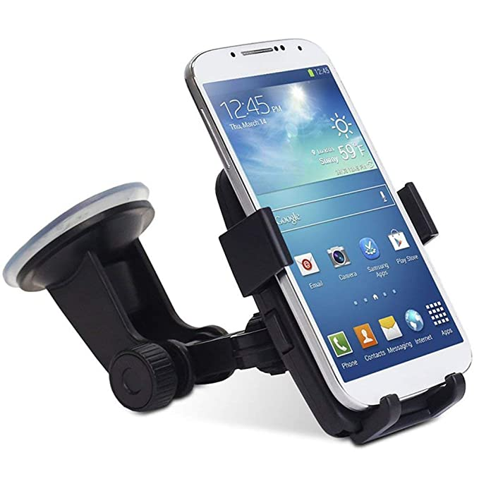 Portable Car Dashboard Mobile Phone Holder HUD Non-Slip Car Phone Mount Stand Essential Accessories-Black