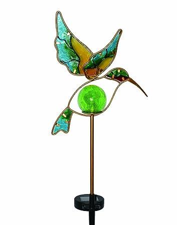 Awesome Moonrays Solar LED Garden Stake Lights In Hummingbird Design (Metal U0026 Glass  Materials)