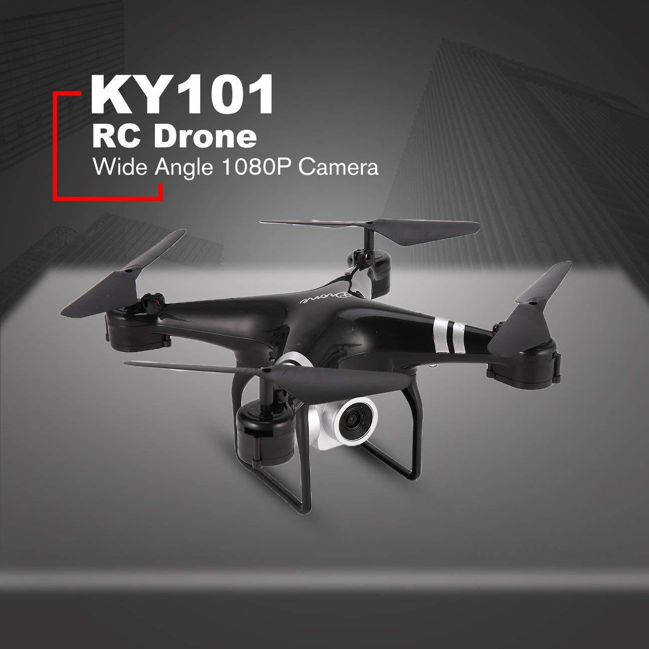 KY101S WiFi FPV Cámara Gran Angular 1080P 1080P 1080P Selfie RC Drone Altitud Mantener Modo sin Cabeza Volteres 3D One Key Return Quadcopter 18 Min. Negro 3cacc0