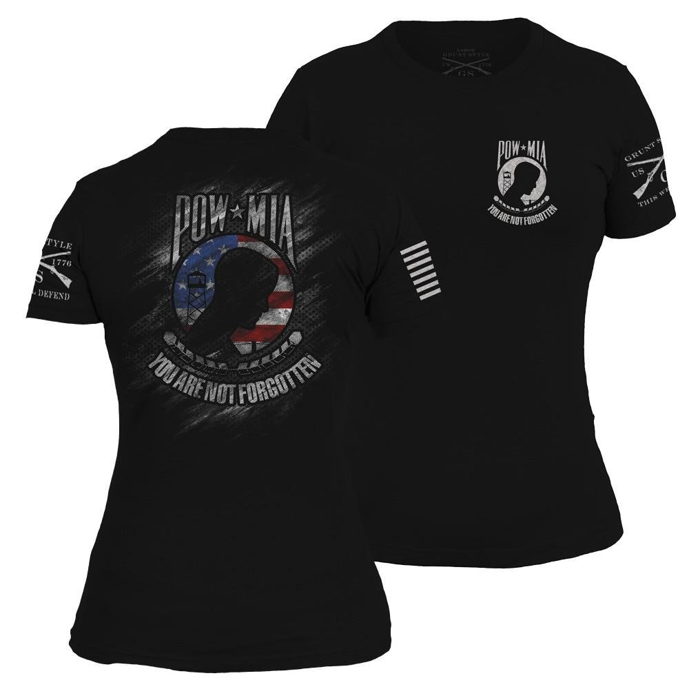 Grunt Style POW/MIA 2017 Women's T-Shirt, Color Black, Size Small