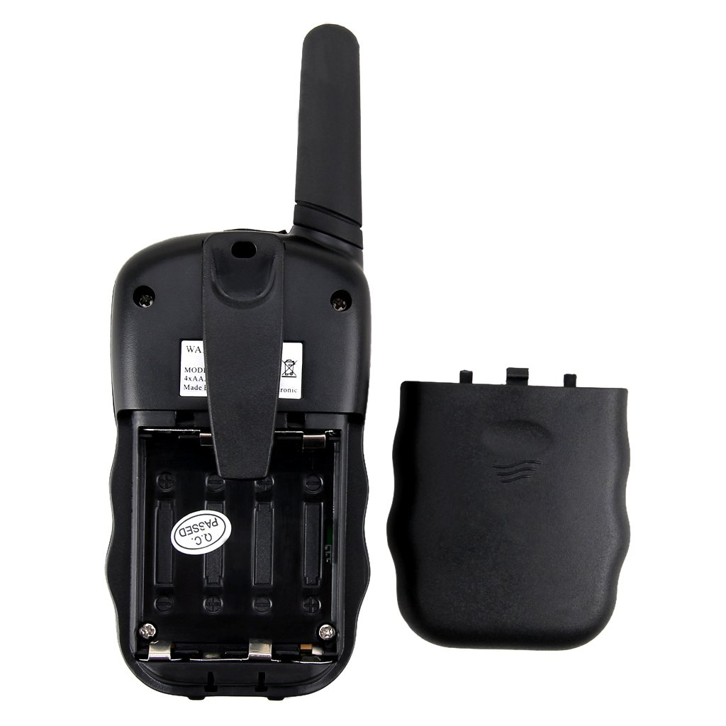FLOUREON Walkie Talkies for Kids 8 Channels Two Way Radio Toys with Long Distance Range 2 Packs Black