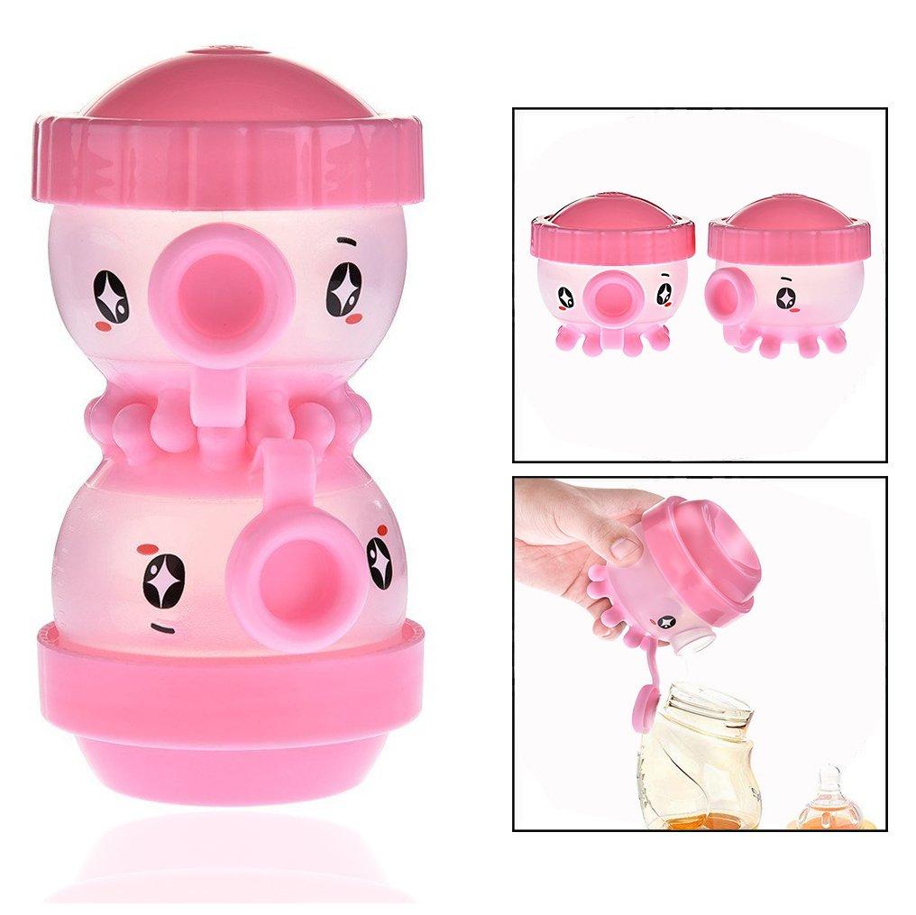 OFKP 2Pcs Simple Lovely Octopus Shape Baby Milk Powder Storage Box, Milk Powder Dispenser