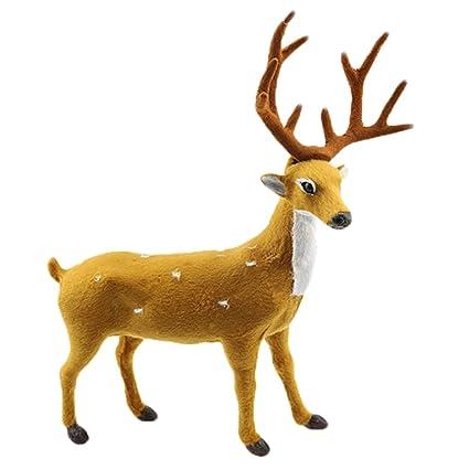 coxeer christmas reindeer decor xmas reindeer decor simulated standing reindeer xmas party decor party favors