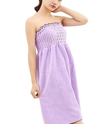 Toallas de Baño, albornoz toalla Wearable, toalla piscina playa mujer Sexy ducha, absorbente Seco Rápidamente Super Suave púrpura OneSize: Amazon.es: Ropa y ...