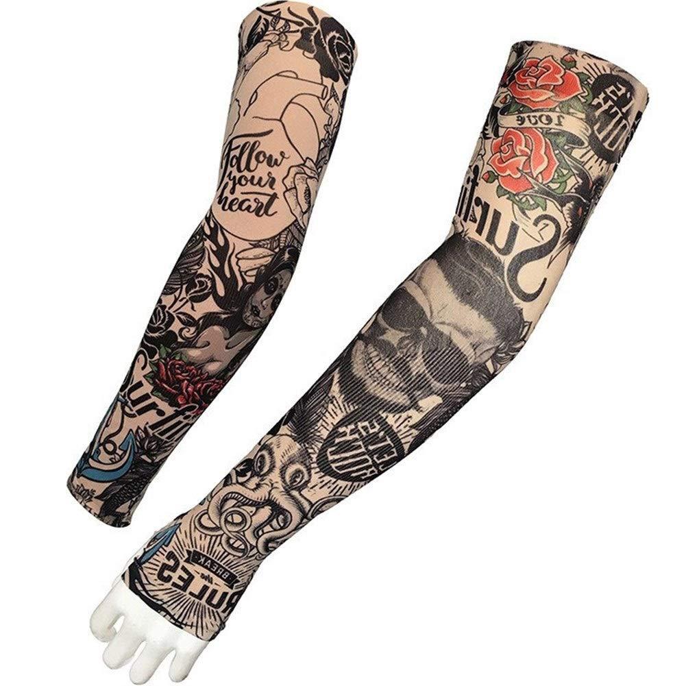 Doodle Protector Solar Mangas de Tatuaje Tatuaje Mangas de Hielo ...