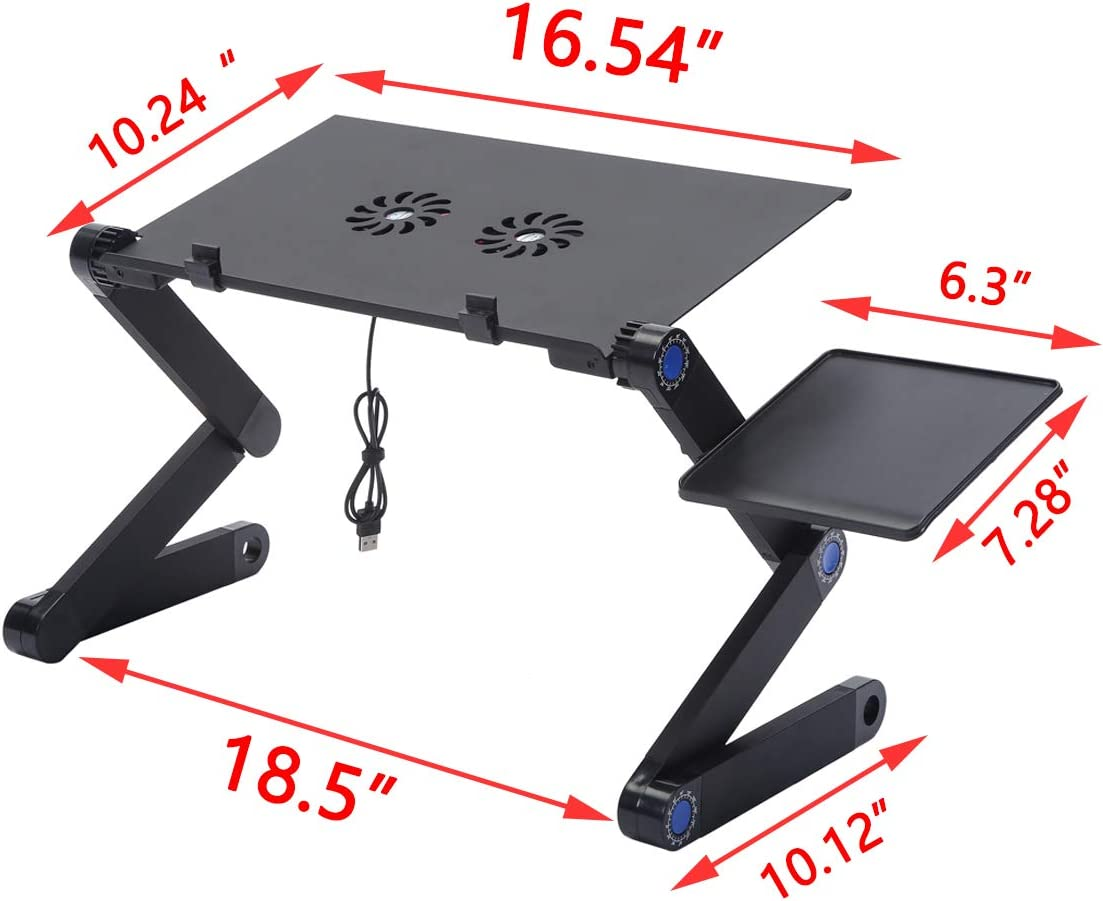 ac //Laptop//Notebook Computer//Tablet RICH Adjustable Height Laptop Riser,Portable Laptop Stand,Desktop Computer Holder Table Desk Tray for iM