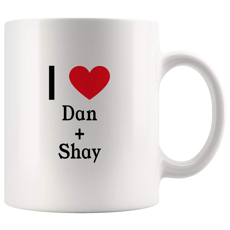 I Love Dan + Shay Tea and Coffee Mug: 11オンス Dan + Shayのファンのためのティーとコーヒーマグ 11oz B07K9M1JNX  11oz