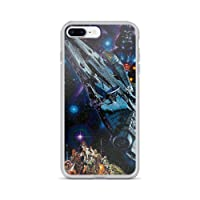 Beamm-Frost Compatible with iPhone 7 Plus/8 Plus Case Millenium Spaceship Stars...