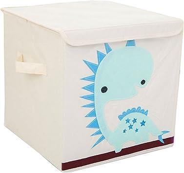 Cubo de almacenamiento plegable para ni/ños gris Dinosaurios Cartoon