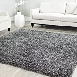 Safavieh Milan Shag Collection MLS431C Handmade Charcoal Polyester Square Area Rug, 7-Feet
