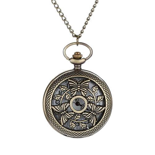 Amazon.com: Willsa - Reloj de bolsillo con números romanos ...