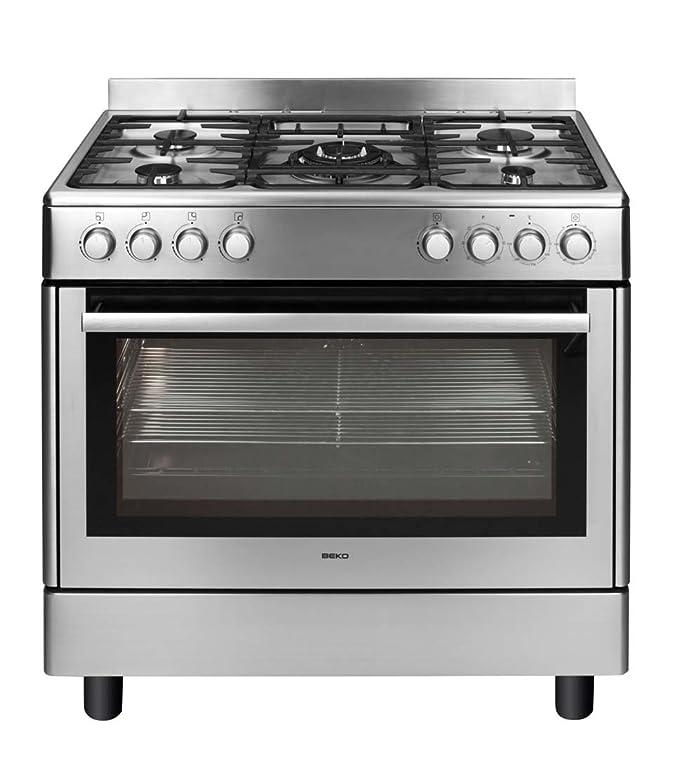 Beko GM15121DX Autonome Cuisinière à gaz B Acier inoxydable four ...