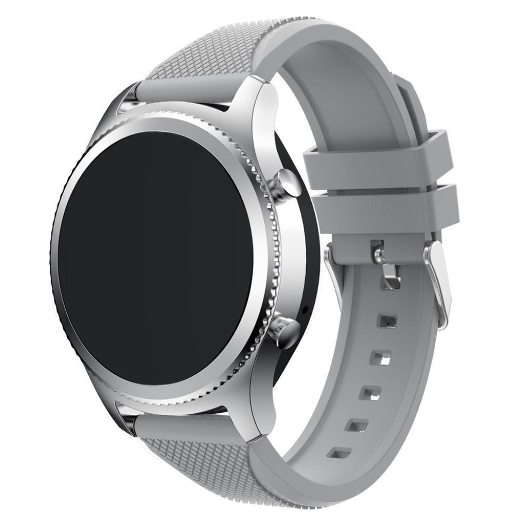 newkellyバンドfor Samsung Gear s3クラシック、シリコンブレスレットストラップバンド  グレー B07C9ZZJYF