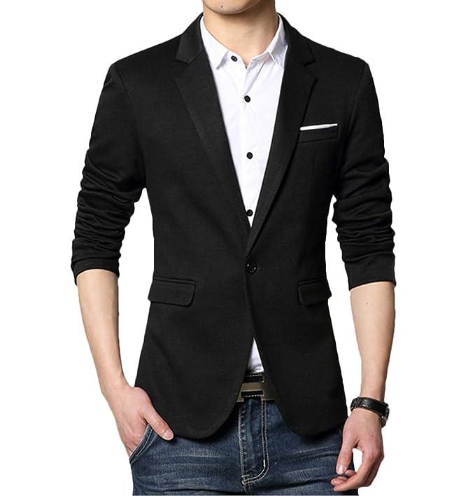 Ghope Herren Sakko Blazer Freizeit Business Jacke Anzugsjacke Herren Slim  fit Jacket Outwear Gr.XS - 3XL: Amazon.de: Bekleidung