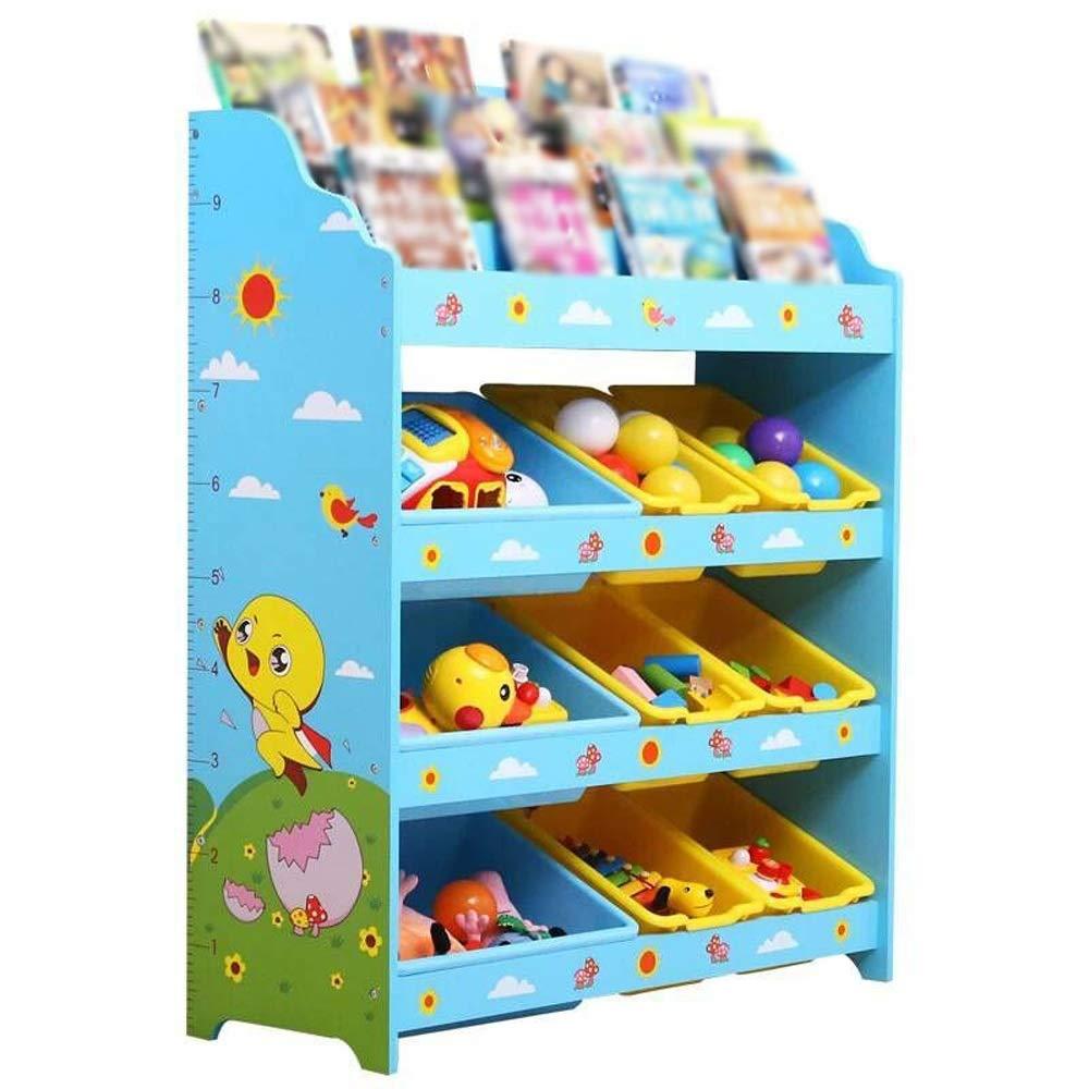 promociones azul Estante para libros azul azul azul Play Oragnizer Boxes Display Niños Estantería Librería Estantería de almacenamiento de juguetes para el dormitorio de la sala de juegos Bastidor de almacenamiento para sala de 8330100cm  ahorra hasta un 30-50% de descuento