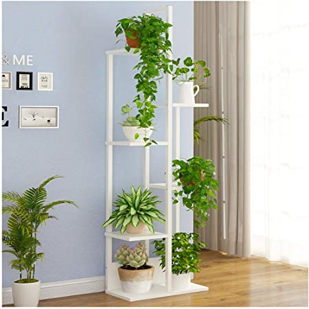 IDWOI Estantería para Plantas Soporte Macetas Estantería para Flores con 6 Niveles Metal Planta De Pie Estante Interior Escalera para Plantas, 3 Colores (Color : White): Amazon.es: Hogar
