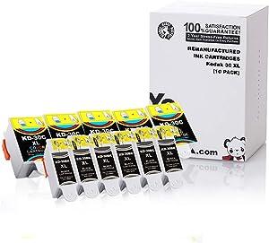 YoYoInk Compatible Ink Cartridges Replacement for Kodak 30XL 30 Series (5 Black, 5 Color; 10-Pack)