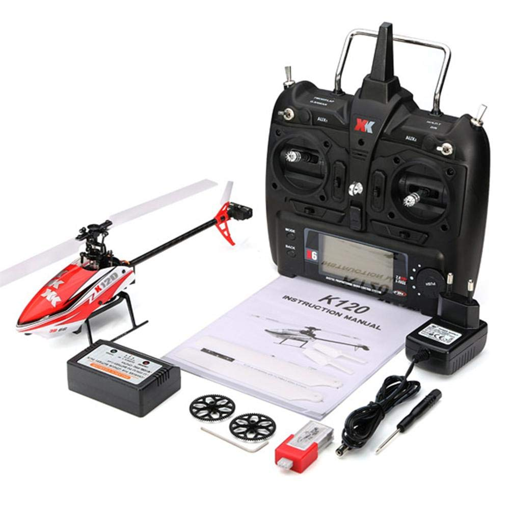Starter RC Hubschrauber - XK K120 Shuttle 6CH Brushless 3D6G System RC Hubschrauber RTF