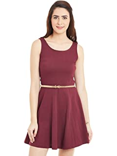 77be4e0e71 Miss Chase Women s Cotton Skater Dress  Amazon.in  Clothing ...