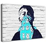 Derrick Amanda Banksy バンクシー ストリート アートフレーム ポスター フォートフレーム 壁掛け式の装飾画 壁アート 木製 インテリアアート 部屋飾り ウォールアート モダン