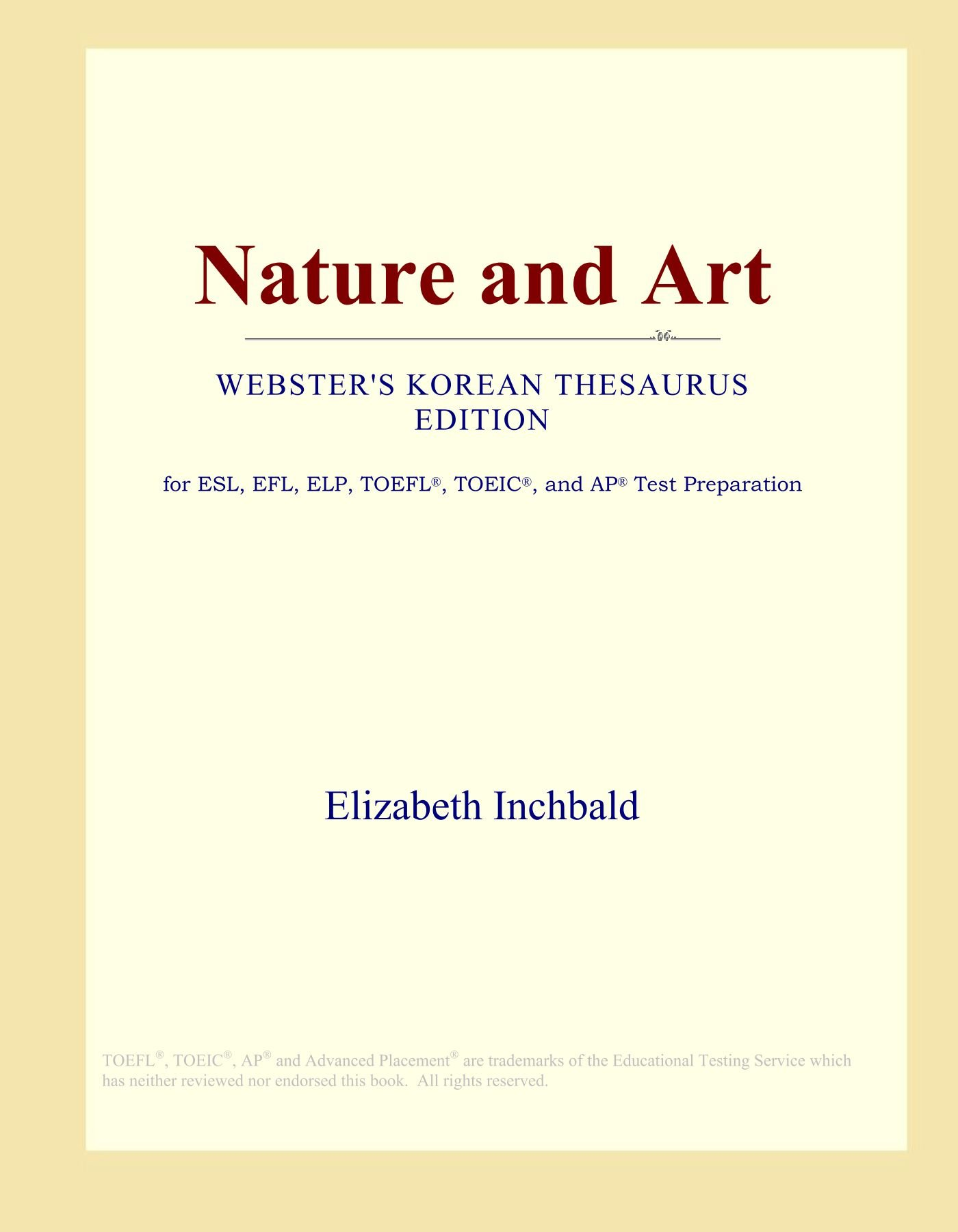Nature and Art (Webster's Korean Thesaurus Edition) pdf