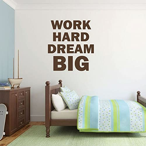 Amazon Com Dream Big Wall Decor Work Hard Quote Vinyl