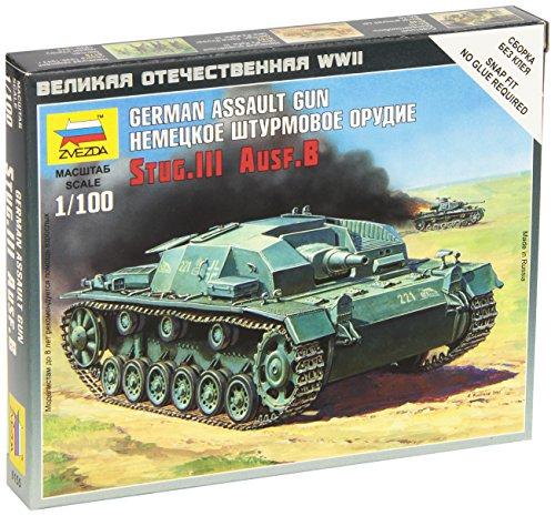 Zvezda Models Sturmgeschutz III Ausf.B Vehicle Building Kit, Scale (Sturmgeschutz Iii Tank)