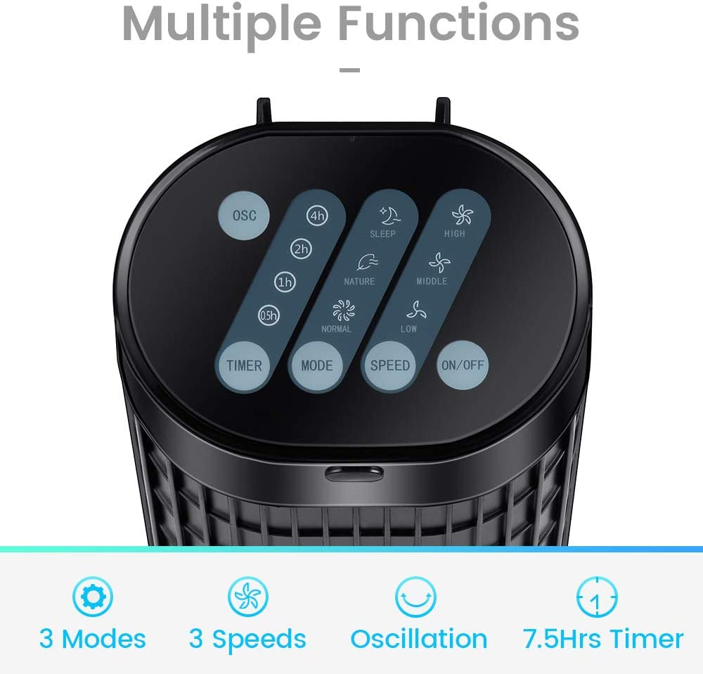 30 Inch Tower Fan Quiet Oscillating Cooling Fan with LED Display and Timer Built-in 3 Modes and Speed Settings Remote Controlled Stand Up Floor Portable Fans for Bedroom and Home Office Use