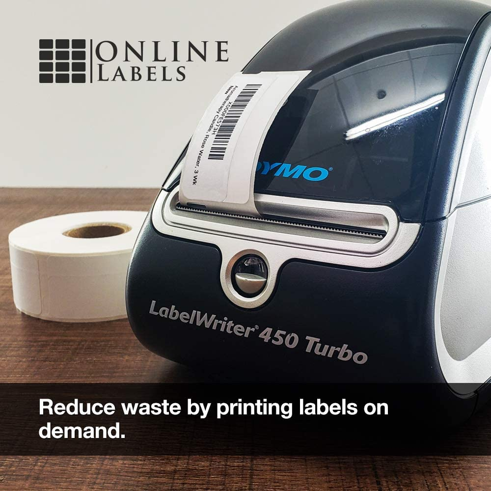 500 Labels 1 Roll Online Labels 0.75 x 2 Thermal Roll Labels for DYMO Printers
