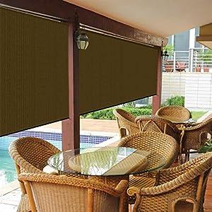 Bravada exterior sun roller shade 8 39 wx6 39 l - Exterior sun blocking window shades ...