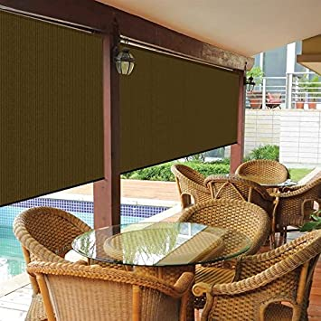 Amazoncom Bravada Exterior Sun Roller Shade 8Wx6L Patio