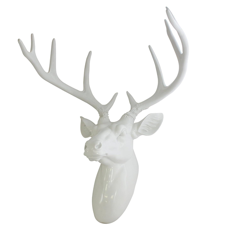 Amazon.com: Pine Ridge Large Wall Hanging Faux Taxidermy Decor White ...
