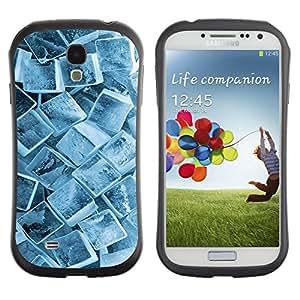 "Pulsar iFace Series Tpu silicona Carcasa Funda Case para SAMSUNG Galaxy S4 IV / i9500 / i9515 / i9505G / SGH-i337 , Cristales Ice Cube Pattern Invierno Nieve fresca"""