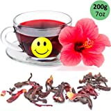 Tealyra - Pure Hibiscus Herbal Tea - Loose Leaf Tea - Organically Grown - Lower Blood Pressure & Help Weight Loss - Vitamins Rich Tea - Healthy Tea - Caffeine Free (7oz / 200g)