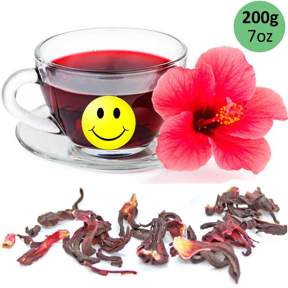 Amazon el molcajete hibiscus flower dried flor de jamaica 8 oz tealyra pure hibiscus herbal tea loose leaf tea organically grown lower blood izmirmasajfo