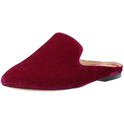 Brand - The Fix Women's Dalyah Closed Toe Loafer Slide, Magenta Velvet, 9 B US: Shoes