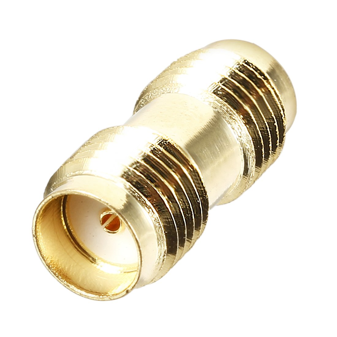 sourcingmap Gold Tone SMA Female to SMA Female Socket RF Coaxial Adapter Connector a18020600ux0112