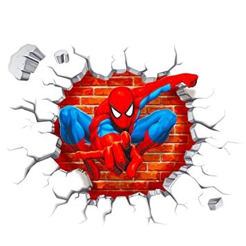 Huge Large Spiderman Wall Stickers Children Boys Bedroom Decal art Mural Decor.